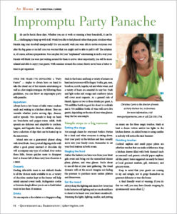 """Impromptu Party Panache"""