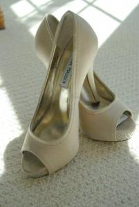Barn wedding bride shoes