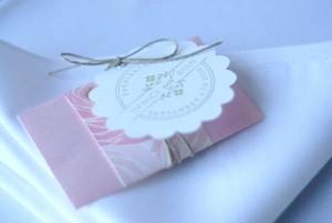 Barn wedding napkin