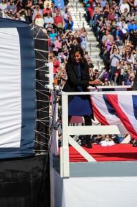 Michelle Obama at USS Illinois6