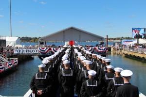 USS Illinois sailors
