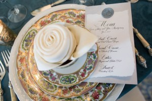 menu and plate